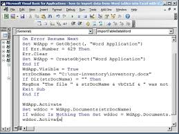how to import data from word tables into excel with vba youtube