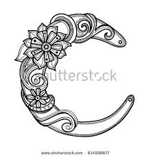 letter c decorative alphabet antistress therapy stock vector