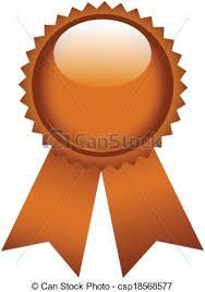 copper ribbon copper ribbon prize tags on white background vectors illustration