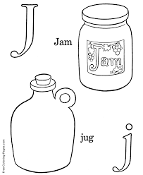 coloring sheets j is for jam