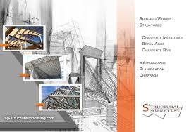 bureau etude construction metallique plaquette bureau etudes structures sg structural modeling by sg