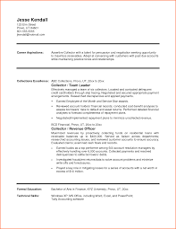 Sample Resume Account Manager by Resume For Debt Collector Free Resume Example And Writing Download