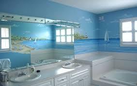 themed bathrooms themed bathroom decor printed mural wall bathtub square