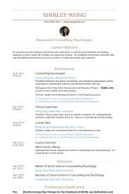 Psychology Resume Templates Counselling Cv Coinfetti Co