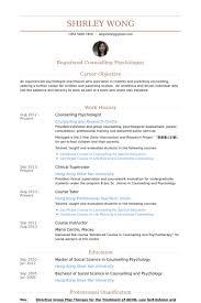 Undergraduate Student Resume Sample by Psychologist Resume Samples Visualcv Resume Samples Database