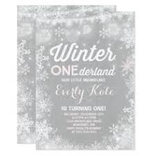 snow floral winter onederland 1st birthday card baby birthday
