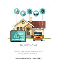 House Flat Design Smart Home Flat Design Style Vector Stock Vector 296608013