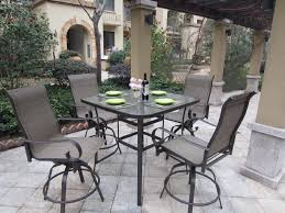 Pub Height Patio Table Uncategorized Swivel Bar Height Patio Set With Square Patio Table