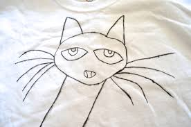diy pete the cat t shirt tutorial for kids craft