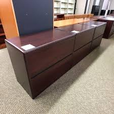 Hon 2 Drawer Lateral File Cabinet Used Hon 2 Drawer Lateral File Cabinet Mahogany Fil1513 002
