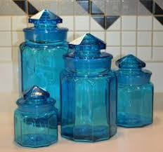 colored glass kitchen canisters vintage shirley temple hazel atlas cobalt blue glass bowl blue