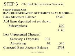 unit 3c my club1 bank reconciliation an organisation s bank