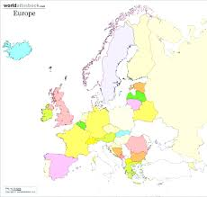 map of europe black and white blank including coloring page color