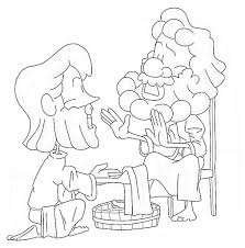 jesus washes the disciples feet coloring page intended for jesus