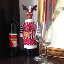 aliexpress com buy homestia 2016 christmas red wine bottle cover