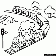 coloring coloring books and for kids on pinterest in free train
