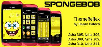 themes nokia asha 308 download spongebob theme for nokia asha 305 asha 306 asha 308 asha 309
