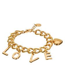 bracelet gold love images Gold tone love charm bracelet claire 39 s us jpg
