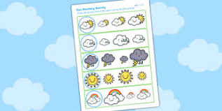 weather writing frames and worksheets early years page 1