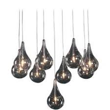 Modern Multi Light Pendants Elk Lighting Modern Multi Light Pendant Light With Clear Glass And