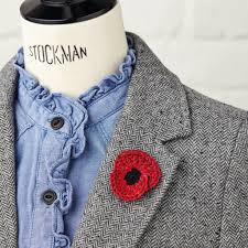 free poppy pattern for remembrance day simply crochet