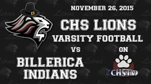 indians thanksgiving chs lions football thanksgiving 2015 youtube