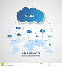 World Cloud Map by Cloud Computing Concept Stock Vector Image 49928129