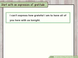 how to give a thank you speech with sle speeches wikihow