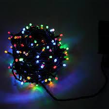 blachere illumination guirlande solaire animée multicolore 16 m
