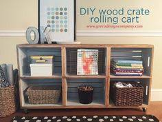 Wood Crate Shelf Diy by