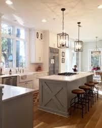shaped kitchen island made of cedar tree designs pinterest modern farmhouse kitchens for gorgeous fixer upper style modern