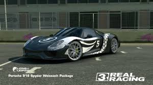 real racing 3 porsche 918 spyder weissach package tuning and