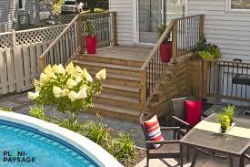 jardin paysager avec piscine amenagement piscine exterieur top amnagement extrieur jardin
