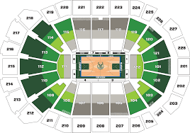 Stadium Floor Plans Tickets Full 2017 19 Milwaukee Bucks