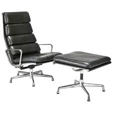 Eames Style Chair by Leather Soft Pad Executive Chair And Ottoman By Charles And Ray