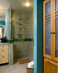 Doorless Shower For Small Bathroom Best New Open Shower Small Bathroom Intended For Residence Decor