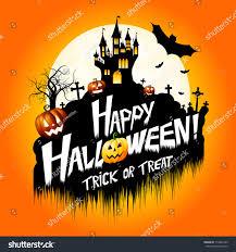 halloween card happy halloween stock illustration 712043185