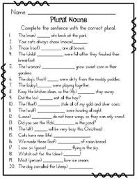 Plural Nouns Worksheets Plural Nouns Plural Nouns Worksheets And