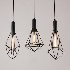 Wire Pendant Light Industrial Multi Pendant Light 3 Light With Wire Net Metal Cage