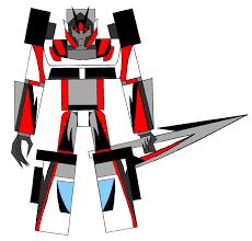 ferrari transformer transformer robot from the game cover by gamemaster ferrari on