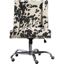 cow print office chair chair design idea