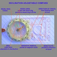 magnetic declination map map compass compass basics
