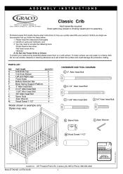 Graco Charleston Classic Convertible Crib Classic White Graco 3281642 043 Ashleigh Classic Crib Manual