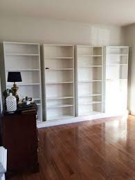 Ikea Billy Bookcase Diy Built In Custom Bookshelves Using Ikea Billy Bookcases Hack