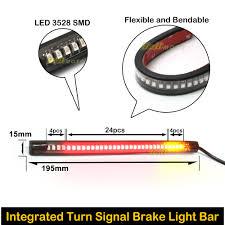 led light strip turn signal harley davidson motor rear brake turn signal integrated led light