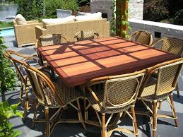 dining room fascinating outdoor dining table using brown wicker