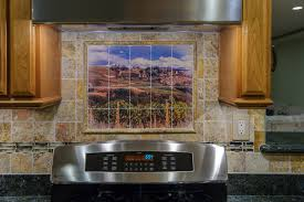 placement the mural backsplash is one alternative for adding