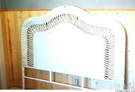 Wicker Headboards White Wicker Headboard Twin White Wicker Bed