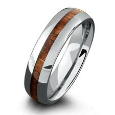 koa wedding bands titanium koa wood ring 6mm northernroyal