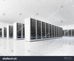 high tech interior server room data stock illustration 490382380
